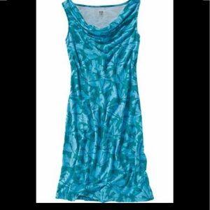 Title Nine Breeze Cowl Neck Blue Floral Dress S